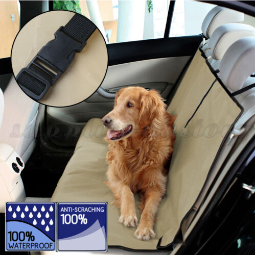 Beige Pet Dog Rear Back Seat Auto Car Waterproof Blanket Cover Protector For Car
