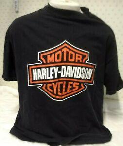 HARLEY-DAVIDSON MOTOR BIKE MENS BLACK SMALL /& XXL T-SHIRT BN GREAT PRICE!!