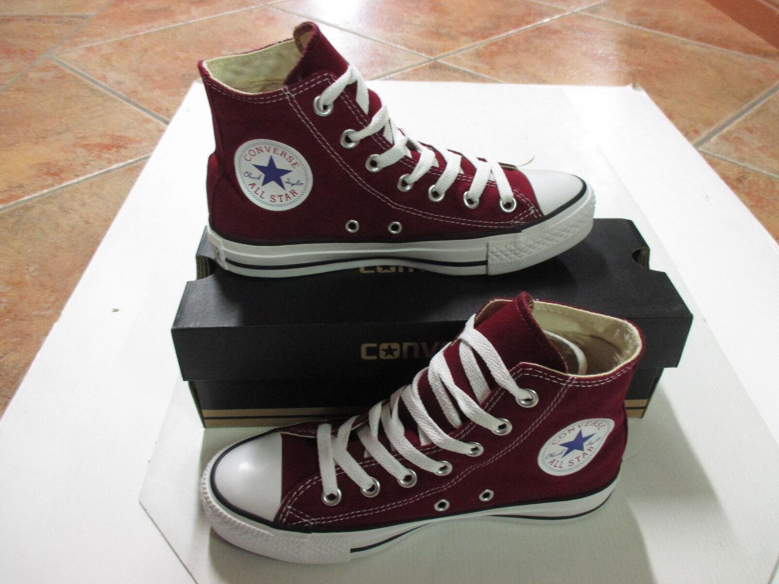 Converse Chucks All Star HI Größe 36,5 Maroon weinrot M9613C Neu Sneaker