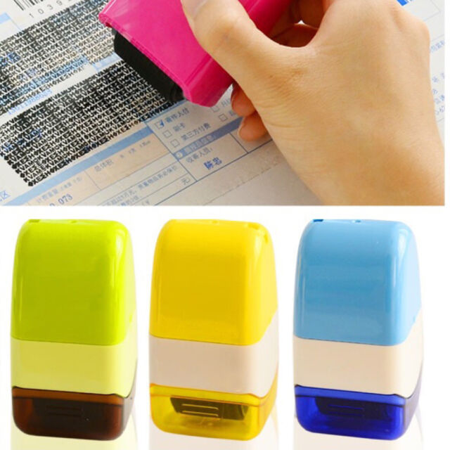 2017 Plus Guard Your ID Roller Stamp SelfInking Stamp Messy Code Security Office