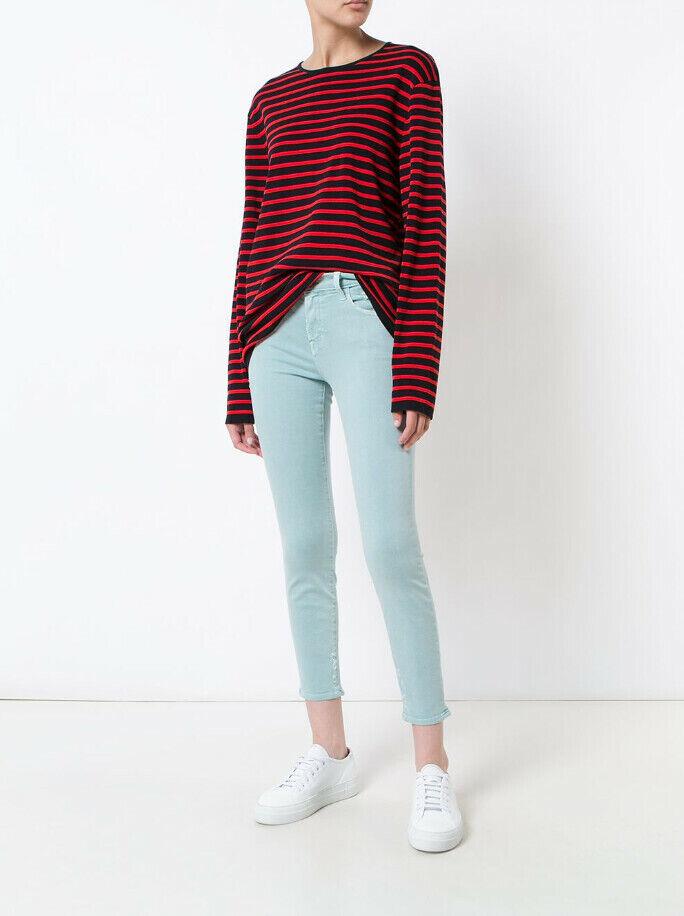 J Brand kvinnor Mid Rise 835I563 Jeans Thin Liason grön Storlek 26W
