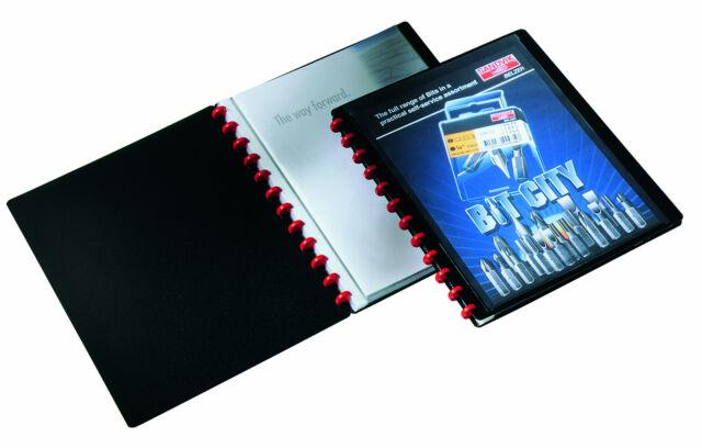 DURABLE Sichtbuch Ringmappe DURALOOK DIN A4 20 Sichthüllen Ringhefter schwarz