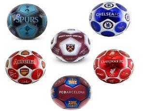 Football-Team-Ball-Signed-Tottenham-Chelsea-Barcelona-Arsenal-Liverpool-West-Ham