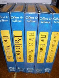 Lot-of-5-Opera-World-Gilbert-amp-Sullivan-VHS-Tapes-The-Mikado-H-M-S-Pinafore