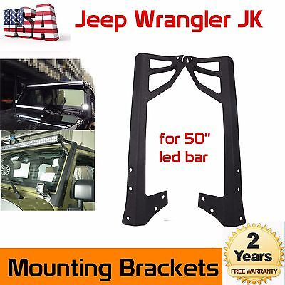 EAG 20-22 inch LED Light Bar Hood Mount Brackets Fit 2007-2018 Jeep JK Wrangler