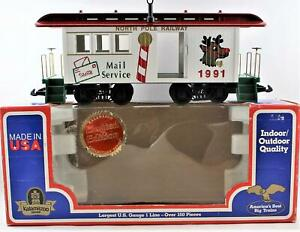 Kalamazoo-Trains-1991-North-Pole-Railway-Mail-Service-Christmas-Passenger-Car