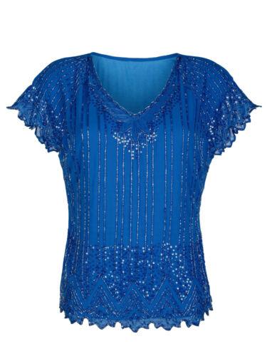 Envejecido con perlas y lentejuelas decoración envío casa nuevo! azul.
