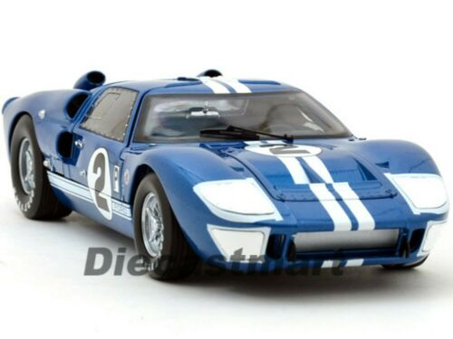 SHELBY COLLECTIBLES 1:18 1966 FORD GT GT40 MKII DIECAST CLASSIC SC401 BLUE #2