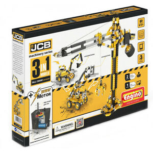 Engino Jcb Motorized Tall Crane 3 En 1 Modèles Construction Set 5055308536510
