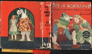 1934-RARE-ALICE-IN-WONDERLAND-156pg-Book-of-Movie