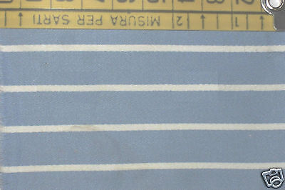Inventivo Tessuto Cotone Elasticizzato Azzurro A Righine Bianche - 552 Squisita (In) Esecuzione