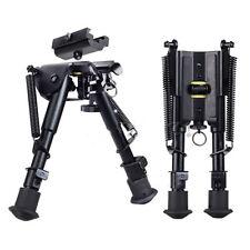 "Adjustable Stud Spring 6""-9"" Rifle Bipod Picatinny Rail Mount 20mm Sling Adapter"
