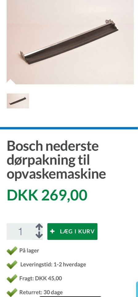 Bosch, indbygning