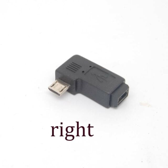 90 Degree right Angle Adapter micro USB Type A B male to mini USB feMale Charger