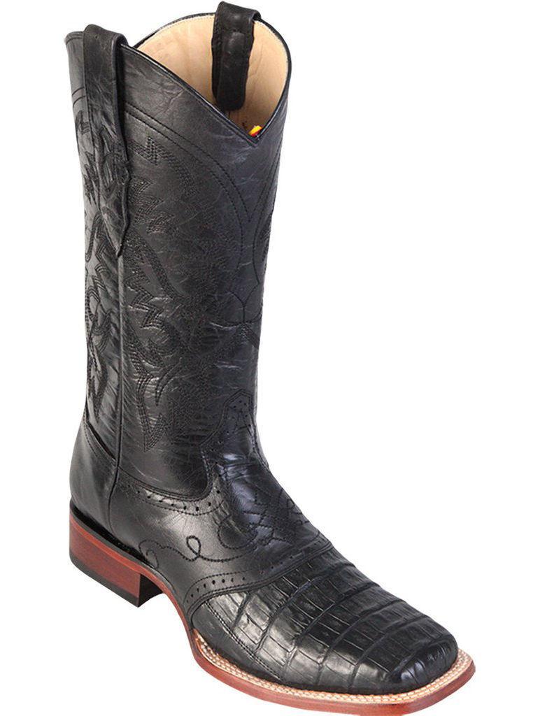 LOS ALTOS Noir Véritable Crocodile Caihomme Bout voitureré Western Cowboy démarrage Extra grand