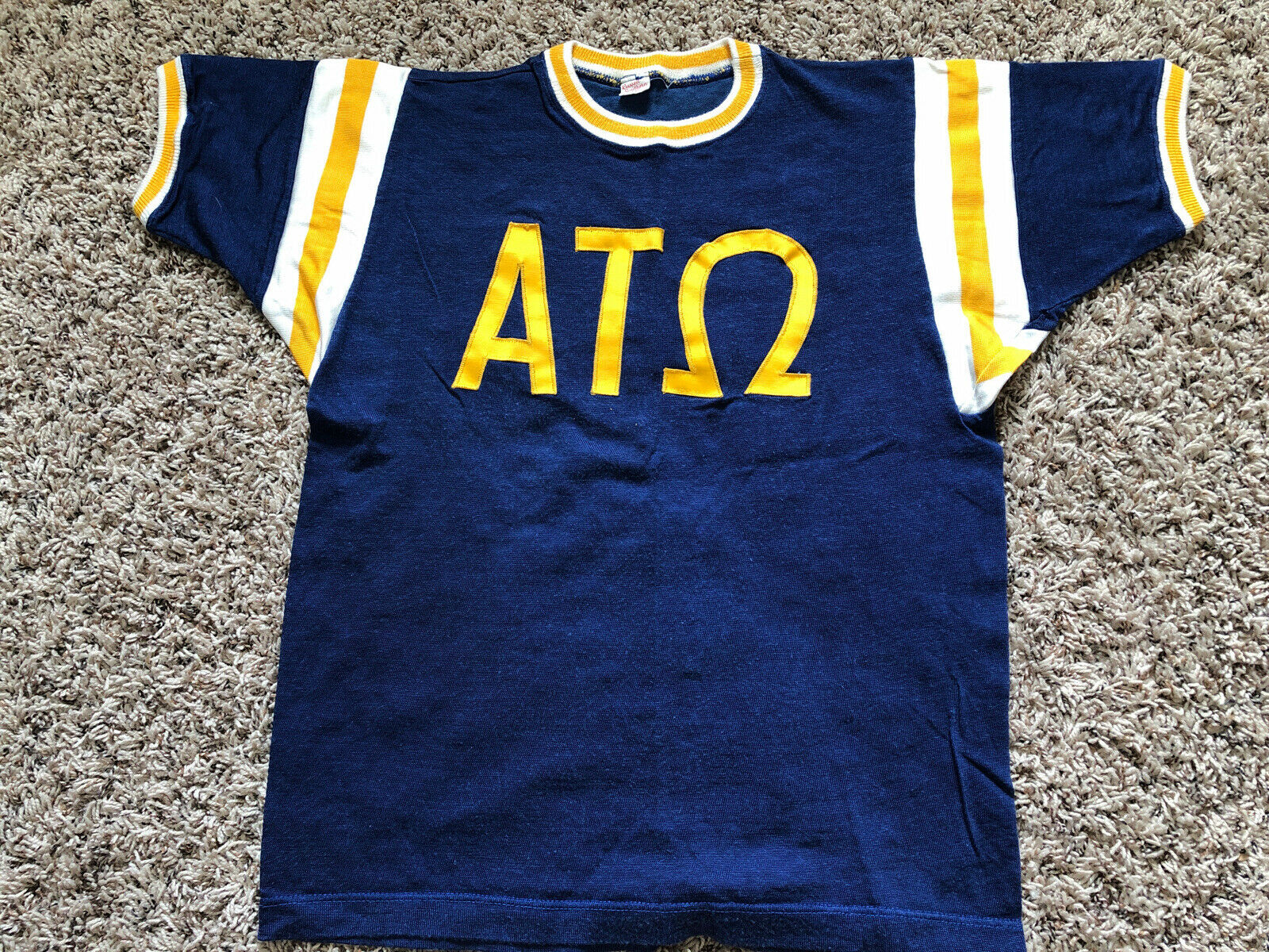 Vintage 50s 60s Ringer College Shirt Russell Sout… - image 1