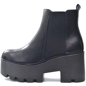 Senora-chelsea-plataforma-botas-botines-negro-con-suela-perfil-parrafo-bloque