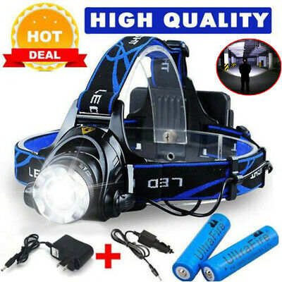 6000Lm LED Headlight Torch Cree T6 Running Work Rechargeable Headlamp Head Light