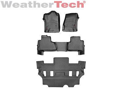 WeatherTech FloorLiner - GMC Yukon w/Bucket Seats - Full Set - 2015-2017 - Black