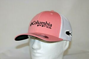 Columbia-PFG-Permit-Flexfit-Fitted-Ball-Cap-Hat-in-PINK-L-XL-7-7-3-4-FREE-Decal