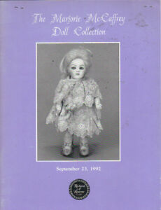 Richard Bourne Marjorie Mccaffrey Doll Collection Auction Catalog 1992 Ebay