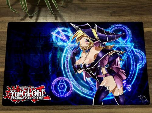 Yu-Gi-Oh Anime Girl Playmat Dark Magician Girl TCG CCG Mat Yugioh Card Game Mat