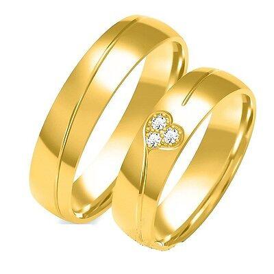 Haben Sie Einen Fragenden Verstand Eheringe Trauringe 333 Er Gold Gelbgold 6mm Massiv Gold Mit Brillanten Bestückt Hochglanzpoliert