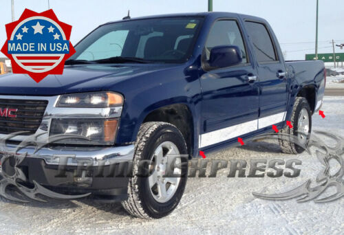 """2004-2012 Chevy Colorado//Canyon Crew Cab Rocker Panel Trim N//F 4/""""Stainless Steel"""
