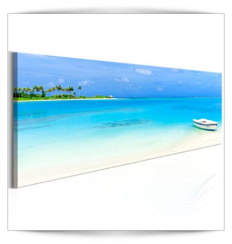 LEINWAND BILDER Meer Strand Inseln See 135x45 Natur Landschaft WANDBILDER XXL