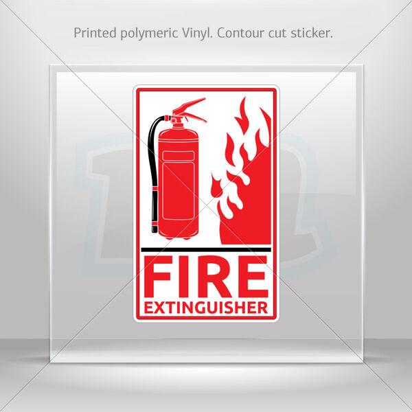 Sticker Decal Fire Extinguisher Sign Helmet Atv Bike Garage st5 XX7XW