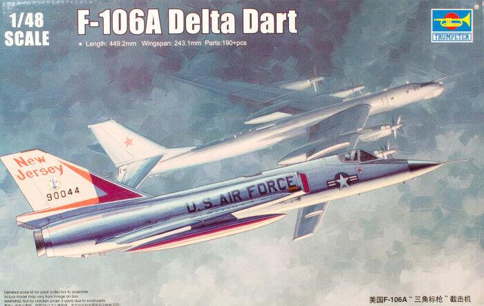 CONVAIR F-106A DELTA DART DART DART TRUMPETER 1 48 PLASTIC KIT 8b3144