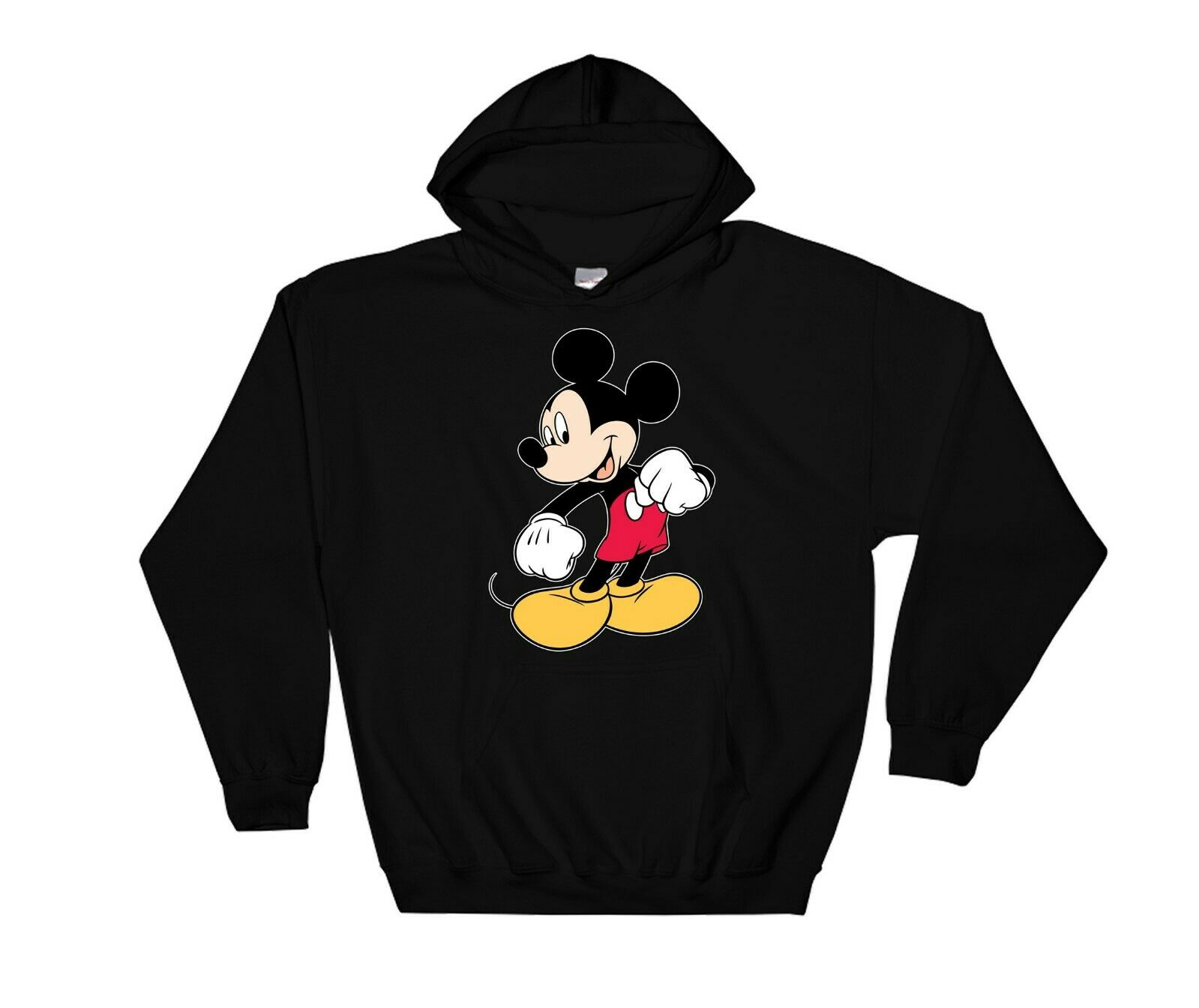 Mickey Mouse Standing Funny Hoodie Cool Gift Sweatshirt Jumper Pullover 4168