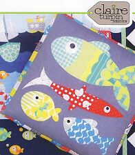 FISHY BUSINESS - Applique Sewing Craft PATTERN - Fish Bean Bag Floor Cushion