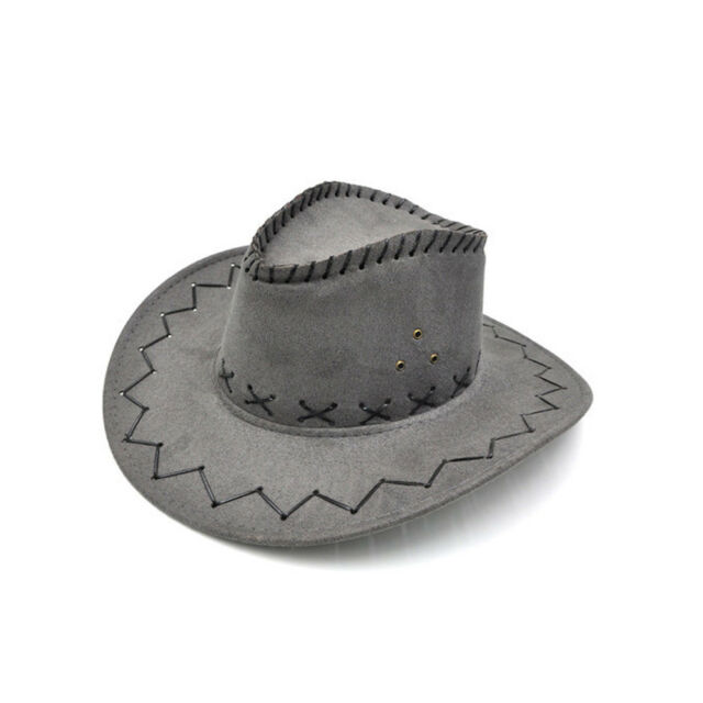 Unisex Sun Hat West Cowboy Straw Cap Outdoor Casual Wide Rims Travel Topee New