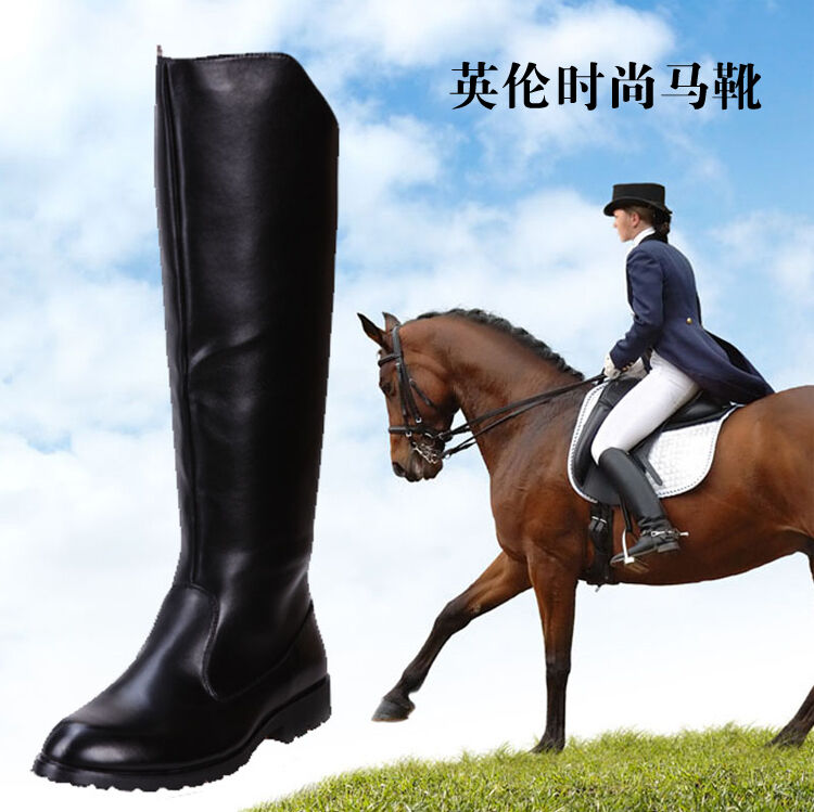 Mens Combat Riding Boots Military Winter New Vogue Knee High Equestrian Boots