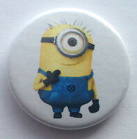 BUY 2 & GET 1 FREE - One Eyed Minion 25mm 1'' Pin Button Badge - Despicable Me