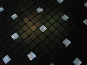 Effekt glas mosaik fliesen silber metall matt schwarz diamant selbstklebend ebay - Mosaik fliesen selbstklebend ...