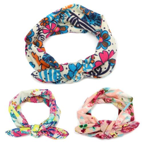 Girl Baby Boho Floral Turban Headband Bow Knot Twist Headwear Hairband Head Wrap