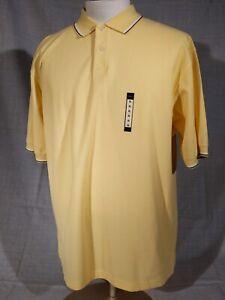 Haggar Performance Wear Yellow Cool 18 Polo Shirt Men's Size XL