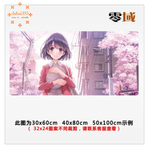 Big Mouse Mat Anime Saenai Heroine no Sodatekata Mousepad GAME Pad 40*80cm #V11
