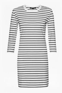 French-Connection-Tim-Tim-Rayures-Robe-45-UK14-EU-L-US-10-UK-16-EU-XL-US-12-A32
