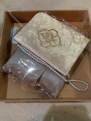 Lux Shawl Beige Velvet Yaseen Book Gift Box Gift For Her Islamic Gift Personalized Gift 33 Bead Tasbeeh Set Prayer Mat