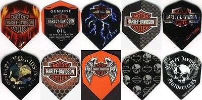 Harley-Davidson MOTOR CYCLES Slim Dart Flights 3 per set