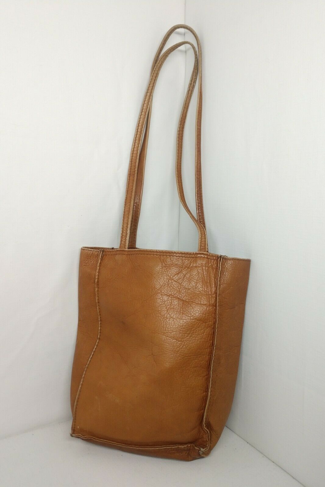 Unbranded Women's Tan Genuine Leather Square Boho… - image 1