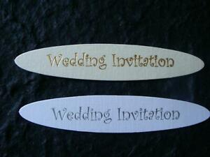 Details About 8 Cut Wedding Invitation Toppers White Silver Or Cream Gold