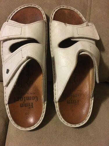FINN Comfort Germany Sandals Women 38 White Leathe