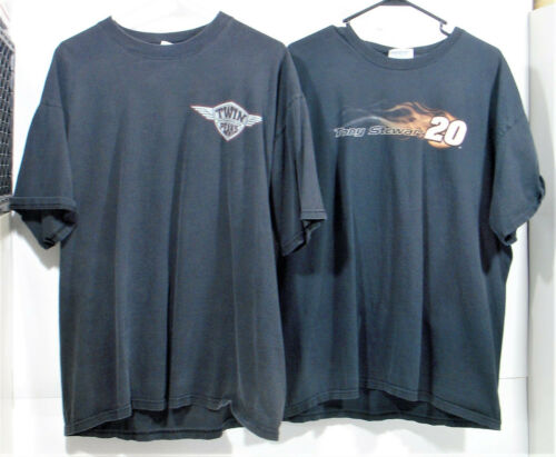 2 RACING T-SHIRTS - TONY STEWART 20 & TWIN PEAKS M