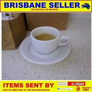 Short Black Coffee Cups Saucer 2 5 Oz
