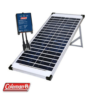 Coleman-40-Watt-12-Volt-Solar-Panel-Rv-Boat-Off-Grid-with-7-5-Amp-Charge-Control