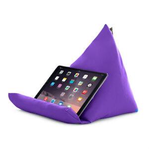Violet Tablette Livre Reste Coussin Bean Sac Coussin Support Ipad Kindle Siège Outdoor-afficher Le Titre D'origine